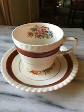 DISCONTINUED Rare Johnson Bros. JB 1136 Old English Red Band Cup & Saucer