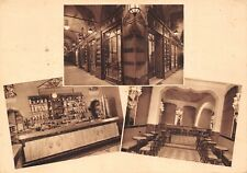 9175) BOLOGNA, CAFFE' BAR DEL PAVAGLIONE, 3 VEDUTINE VIAGGIATA NEL 1939.
