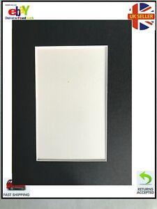 Rectangular Black Card Picture Mounts 10x8 ' aperture 7 x 5 '
