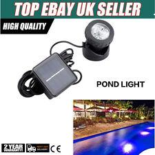 6LED Underwater Solar Pond Lights Spotlights Outdoor Garden Pond Pool Lighting