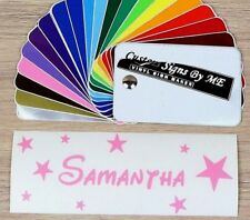 Personalised Wall Sticker Name Text Lettering With Stars Vinyl Decal Adhesive
