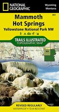 Mammoth Hot Springs 303 ng Yellowstone NP NW (National Geographic Map) NG-004