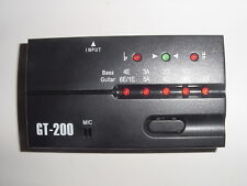 New 6 String Electric and 4 String Bass Guitar Tuner Gt-200