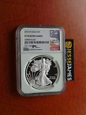 2013 W PROOF SILVER EAGLE NGC PF70 ULTRA CAMEO RARE MERCANTI SIGNED!