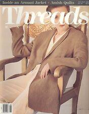 Threads Magazine Aug Sep 1990 Armani Jacket Theater Costuming Couture Waistband
