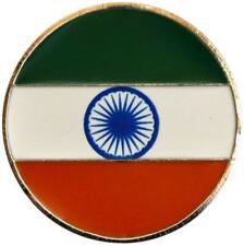 Indian Flag Golf Ball Marker with Matching Hat Clip