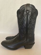 Ariat Women's Heritage Western R Toe Size 7.5 Boots Black 15770