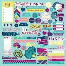 new PRIMA FLOWERS Wishful Thinking chipboard stickers 12x12 by Leeza Gibbons