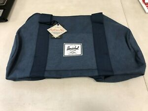 HERSCHEL SUPPLY CO Sutton Mid Duffle Bag 22L Cotton Canvas Washed Navy