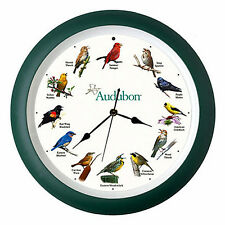 "WALL CLOCKS - SINGING BIRDS WALL CLOCK - 13"" DIAMETER - AUDUBON SOCIETY - BIRD"