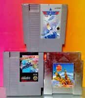 Game Lot - Nintendo NES Tested Authentic Top Gun Tiger Heli Mig 29 Airplane Game