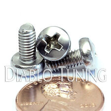 M4 x 8mm - Qty 10 - Stainless Steel Phillips Pan Head Machine Screws DIN 7985 A