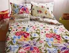 4 pièces Mako satin Linge de lit blanc multicolore 135x200 cm motif floral