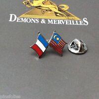 Pin's Folies *** Drapeau Flag France Malaisie  Demons & Merveilles