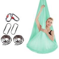4*2.8m Yoga Swing Aerial Silk Hammock Anti-gravity Hanging Belt Sling Inversion
