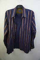 Kenzo Homme-Mens Long Sleeved Shirt-Blue with stripes- Shirt-Size 41/16-