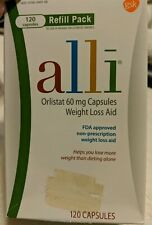 "Alli Weight Loss Aid 120ct ""refill box"" Brand New  exp. 03/21 FACTORY SEALED"
