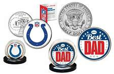 Best Dad INDIANAPOLIS COLTS 2-Coin US Set Quarter & JFK Half Dollar NFL LICENSED