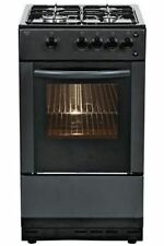 Bush AG56SB Free Standing 50cm 4 Hob Single Gas Cooker - Black.