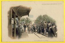 cpa PARIS EXPO 1900 Quai d'Orsay PLATE FORME MOBILE Trottoir Tapis Roulant Animé