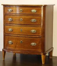 Rare Apprentice Piece chest drawers antique Bedside 1820's inlaid Georgian brass