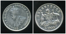 AUSTRALIE  3  three pence  1936  ARGENT
