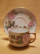 MZ Altrohlau CM-R Czechoslovakia Teacup & Saucer Hand Painted Vintage