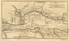 An authentic plan of the River St. Laurence… Quebec City. GIBSON 1759 old map