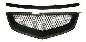 Front Hood Molding & Bumper Sport Mesh Grill Grille Fit Acura TL 07-08 2007-2008