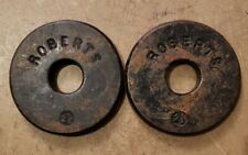 Pair of Vintage Roberts 2.5 lb Weight Plates 5 lbs Total