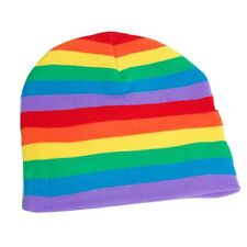 NEW GAY PRIDE RAINBOW Lesbian Bisexual LGBT  WINTER SKI SNOWBOARDING HAT BEANIE