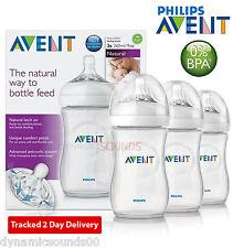 Philips AVENT Natural Feeding Bottle Triple Pack 3 X 260ml/9oz Bottle Set SCF693