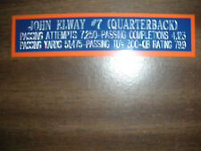 JOHN ELWAY NAMEPLATE FOR SIGNED BALL CASE/JERSEY CASE/PHOTO