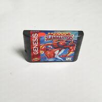 Saturday Night Slam Masters (1993) Only Game Card Sega Genesis Mega Drive System