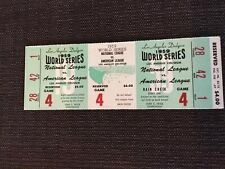Full Unused 1959 World Series Chicago Whitesox LA Dodgers Ticket  Gil Hodges Hr