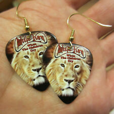 White Lion Earrings; When The Children Cry; Guitar Pick Jewelry; Gold Tone