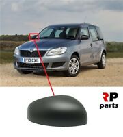 FOR SKODA FABIA 07-15, ROOMSTER 06-15 NEW WING MIRROR COVER CAP BLACK RIGHT O/S