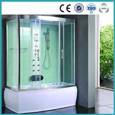 Steam Room Shower Enclosure 9001 Pure White Hydro Massage Jets Steam Shower