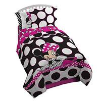 Disney Minnie Mouse 'Dots are The New Black' 2-Pc Twin Full Comforter and Sham