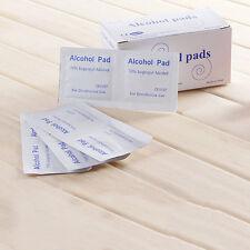100x pastillas de alcohol desechables toallitas esterilización primeros auxilsta