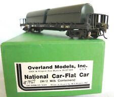 NX National Flatcar with Milk Tanks by Overland. Correctly Painted in Brass