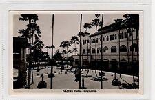 RAFFLES HOTEL: Singapore postcard with RENGAM postmark (C28944)