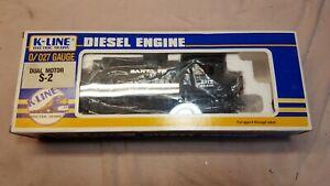 K-LINE 2312 Santa Fe Dual Motor S-2 Diesel Switcher Brand New in Original Box