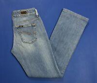 Lee coral jeans donna w28 tg 42 slim bootcut zampa usato vita bassa blu T3119