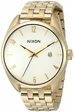 Nixon Women's 'Bullet, White' Quartz Stainless Steel Automatic Watch, Color:Gold