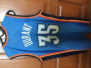 Kevin Durant OKC Autographed/Signed Jersey COA