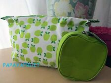 2pc Clinique Green Apple Fruit Cosmetic Bag and Coin Purse