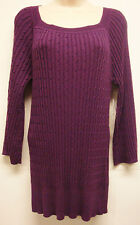 """*NWT Adorable RXB """"Merlot"""" Purple Tunic Sweater w/ Bell Sleeves sz Large-Cute"""