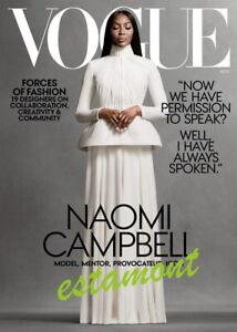 ★ NAOMI CAMPBELL on cover - VOGUE USA - Magazine November 2020