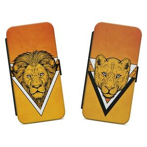 Lion and Lioness WALLET FLIP PHONE CASE COVER FOR IPHONE SAMSUNG HUAWEI